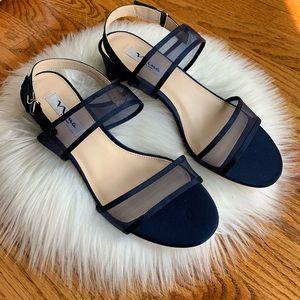 NINA Women's Ganice Dress Sandal YM Navy 10 M